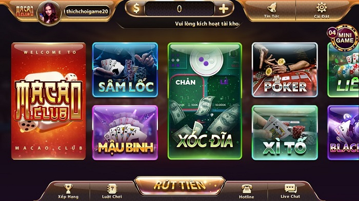 giao dien game macao club