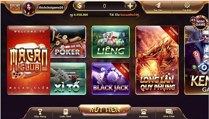 Choi game bai xi to online doi thuong macao.club
