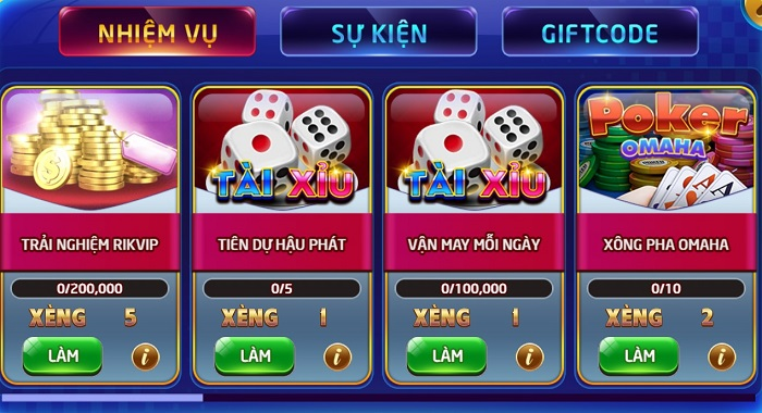 cach nhan giftcode rikvip